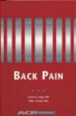 A. Haig,M. Colwell,A Haig - Back Pain