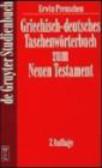E Preuschen - Griechisch-Deutsches Taschenworterbuch zum Neuen Testament