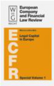 M Lutter - Legal Capital in Europe