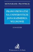 Adam Redzik - Prawo prywatne na Uniwersytecie Jana Kazimierza we Lwowie