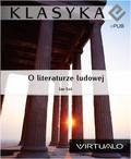 Jan Łoś - O literaturze ludowej