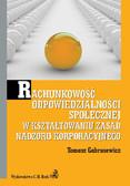 Tomasz Gabrusewicz - Rachunkowość odpowiedzialności społecznej w kształtowaniu zasad nadzoru korporacyjnego