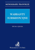 Iwona Gębusia - Warranty subskrypcyjne