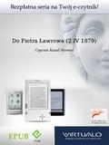 Cyprian Kamil Norwid - Do Piotra Ławrowa (2 IV 1879)
