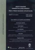 Zeszyty naukowe Uniwersytetu Jagiellońskiego 3(117) 2012