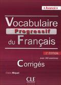 Miquel Clire - Vocabulaire progressif du français Avancé Klucz 2. edycja