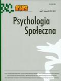Psychologia Społeczna Tom 7 nr 2 (21) 2012