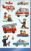 Naklejki papierowe Z Design Strażak policjant