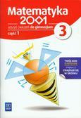 Praca zbiorowa - Matematyka 2001 3 Zeszyt ćwiczeń część 1. gimnazjum
