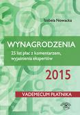 Izabela Nowacka - Wynagrodzenia 2015. 25 list płac z komentarzem, wyjaśnienia ekspertów