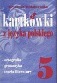 Stępień Małgorzata, Olejniczak Zofia - Kartkówki z języka polskiego klasa 5