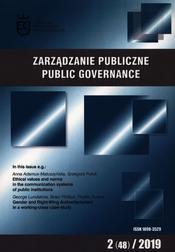 Zarządzanie publiczne 2 (48) 2019