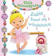 Mała dziewczynka. Zuzia bawi się w balet