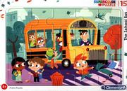 Puzzle ramkowe 15 SuperColor The School