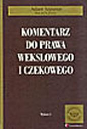 Komentarz do prawa wekslowego i czekoweg